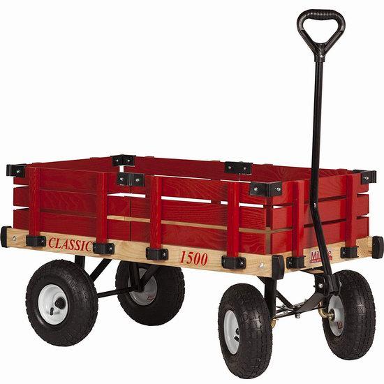 历史新低!Millside Industries Classic 实木儿童拖车4.8折 109.97加元包邮!