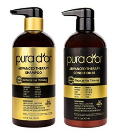 PURA D'OR 升级版防脱生发洗发水+护发素套装 54.99加元+包邮