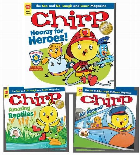 独家:3-13岁热门儿童杂志《OWL、Chickadee、Chirp》一年期订阅4.1折 24.65加元包邮!