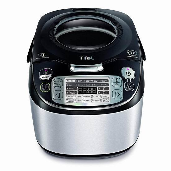 历史新低!T-fal RK8048 48合一 5升量 智能电磁感应 多功能电饭煲3.6折 89.97加元包邮!