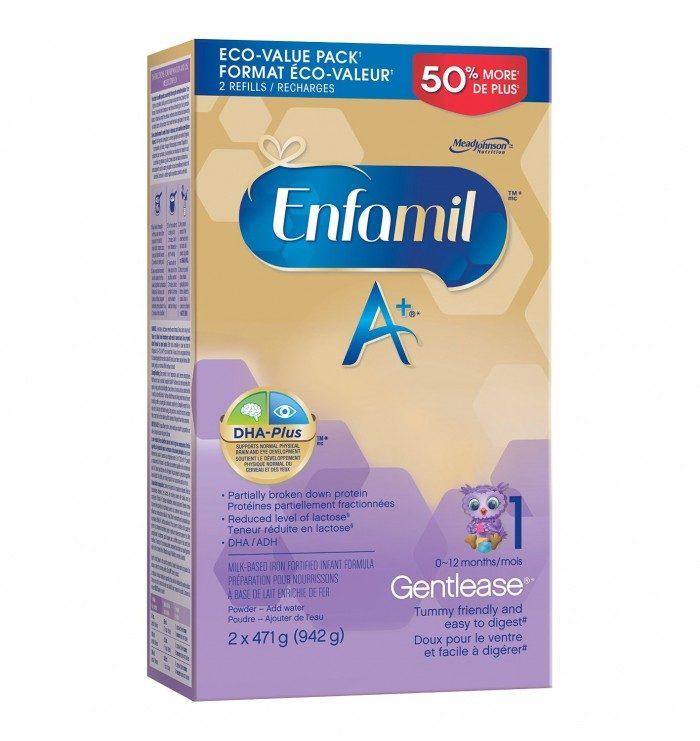 Enfamil A+婴儿配方奶粉 1/2段 40.84加元,walmart同款价 47.97加元,包邮
