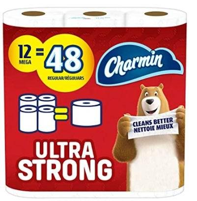 Charmin Ultra 超软/超强 双层卫生纸12卷 16.13加元