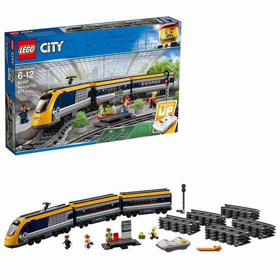LEGO 乐高 60197 城市系列 蓝牙客运火车8折 159.97加元包邮!支持次日送达!