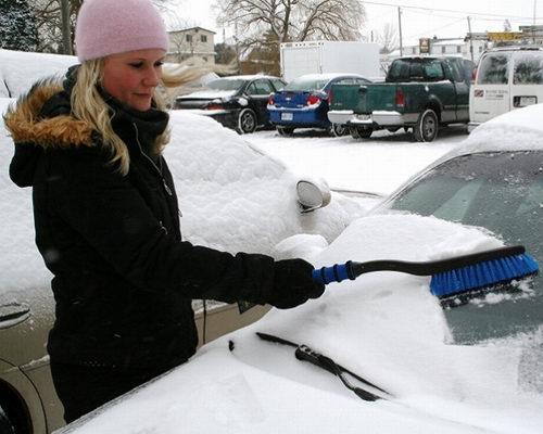 扫雪铲冰渣!Hopkins 532 Mallory 26英寸二合一除冰铲/除雪刷3.2折 6.97加元!