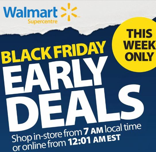 Walmart 黑五预售开抢!秒杀900粒乐高积木24.88元、空气炸锅88元、微波炉79元、65寸4K电视498元、笔记本电脑398元!