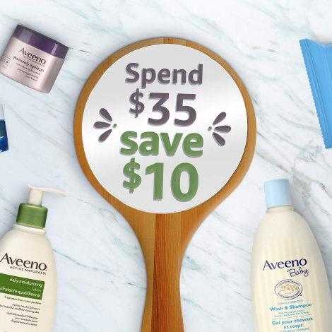 精选 Aveeno、Clean & Clear、Neutrogena 等品牌护肤品、婴幼儿洗浴用品、防晒产品等特价销售,满35加元额外立省10加元!