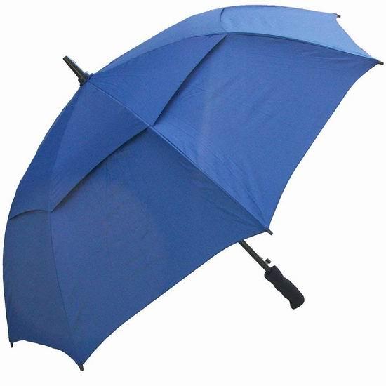 RainStoppers W016N 48英寸 海军蓝 双层防风雨伞 5折 14.33加元!