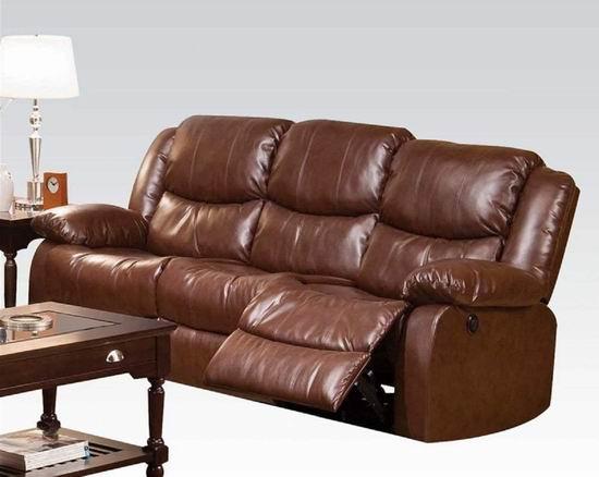 Q-Max SH1256 电动坐躺两用 三人棕色皮革沙发4.3折 876.4加元包邮!