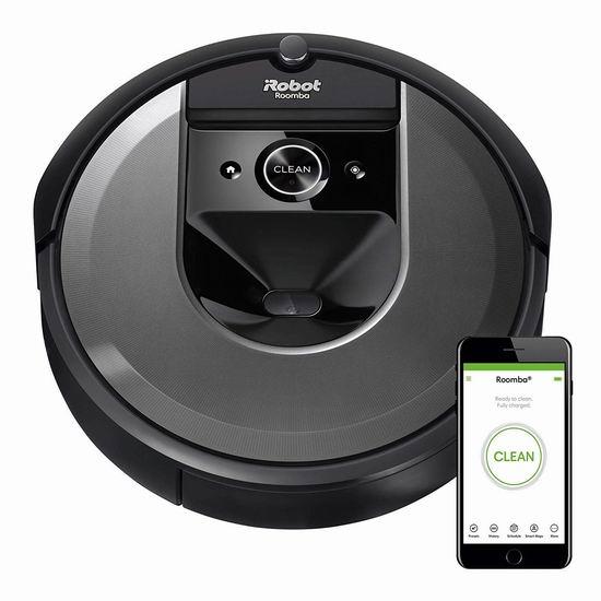 历史最低价!iRobot Roomba i7 Wi-Fi 顶级智能扫地机器人6.5折 649.99加元包邮!