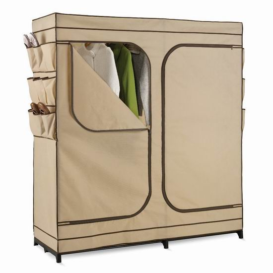 历史新低!Honey-Can-Do WRD-01272 60英寸 钢结构简易衣柜4.1折 37.62加元包邮!