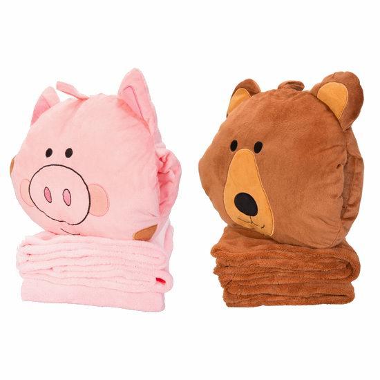 白菜价!Mountain Warehouse 保暖睡袋、地垫、毯子、旅行头枕等3.7折起+额外8折+包快递!11.99加元收超萌小猪小熊枕头+毯子!