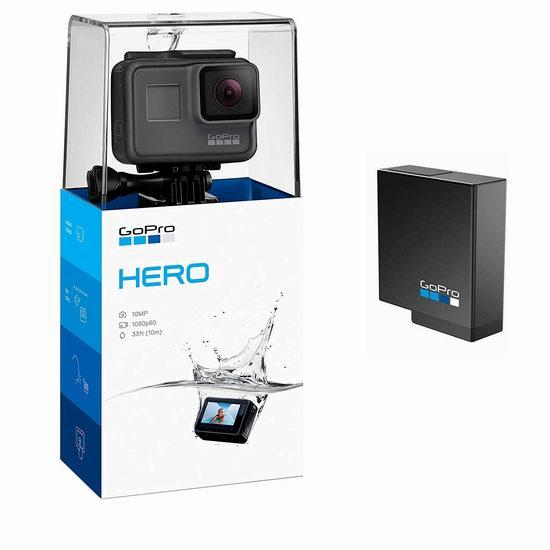 黑五专享:历史新低!全新2018版 GoPro HERO 防水运动相机+额外电池 177加元包邮!