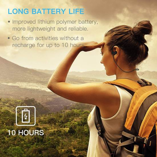 Mpow Flame 蓝牙立体声运动耳机 23.49加元限量特卖!