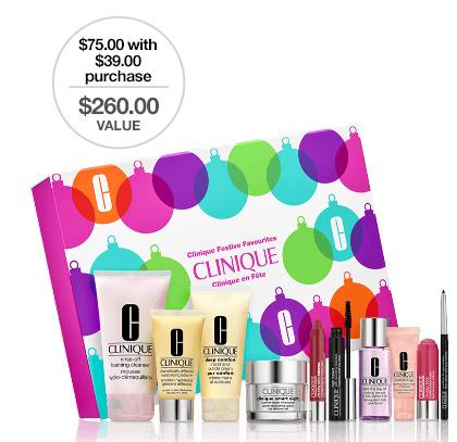 Clinique 倩碧 满39加元,购买价值260加元大礼包(含6件正装)仅需75加元!