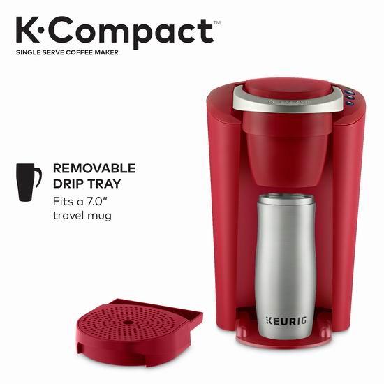 历史新低!Keurig K-Compact K35 紧凑型胶囊咖啡机5.8折 58加元包邮!2色可选!
