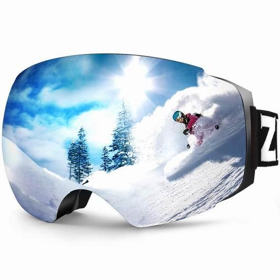金盒头条:历史新低!ZIONOR Lagopus 防紫外线 防雾 滑雪护目镜 20.99加元起!多色可选!