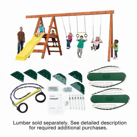 白菜价!精选多款 Swing-N-Slide DIY儿童秋千滑梯硬件套装2.3折起清仓!图示款秋千吊环组合硬件仅需37.18加元!