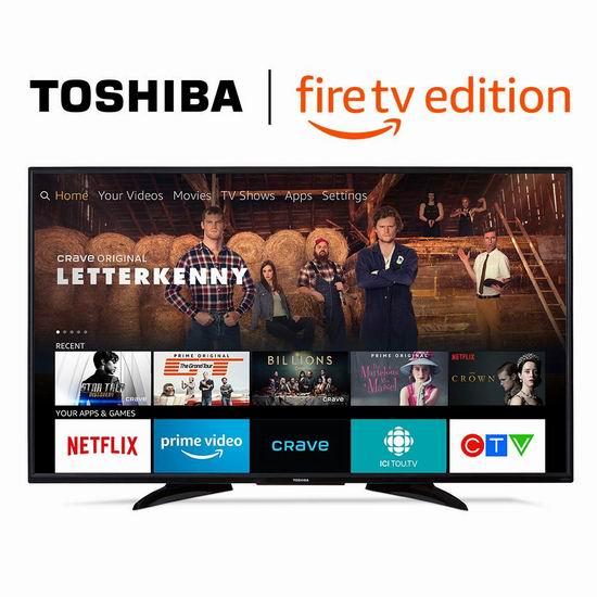 历史最低价!Toshiba 东芝 43LF621C19 43英寸 4K超高清 Fire TV版智能电视 349.99加元包邮!