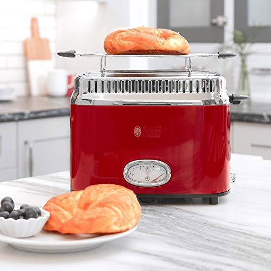 金盒头条:Russell Hobbs 领豪 TR9150RDRC 复古红色烤面包机5折 59.4加元包邮!2色可选!