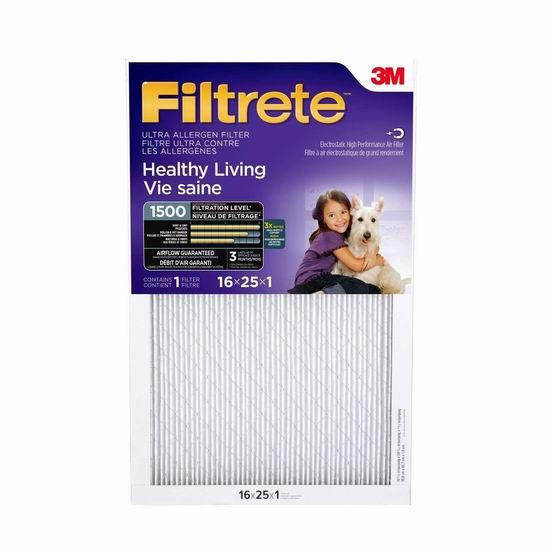 精选 3M Filtrete 家庭空调暖气炉过滤网4.3折起!3M旗下产品!仅限今日!