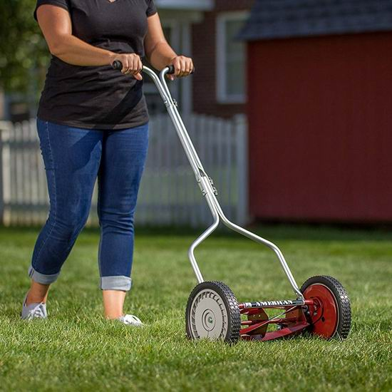 史低价!American Lawn Mower 1304-14 14英寸 手动推卷式割草机3.2折 59.28加元包邮!