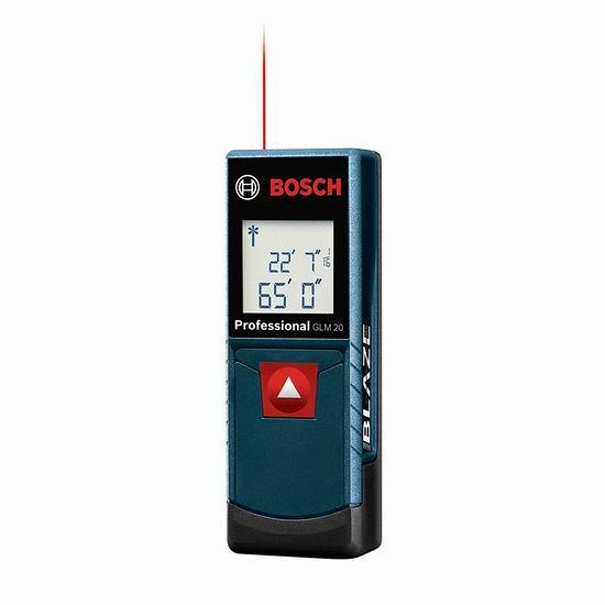Bosch GLM 20 65英尺 专业激光测距仪6.1折 39.99加元包邮!