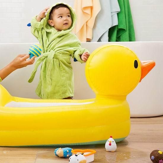 Munchkin 充气式 大黄鸭 宝宝浴缸 15.6加元!
