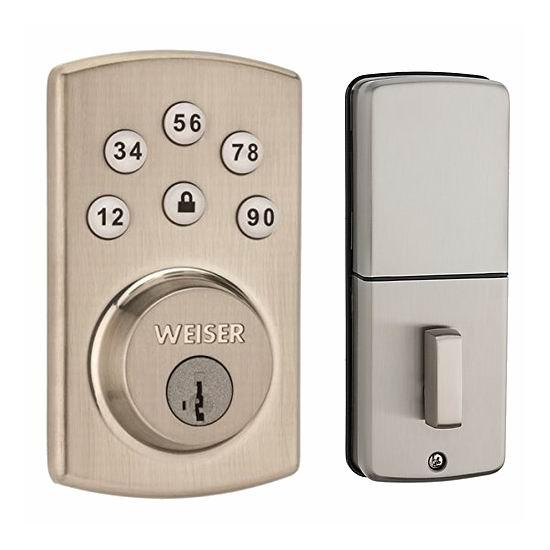 Weiser Powerbolt 2.0 SmartKey 电子密码门锁6.8折 87.99加元包邮!