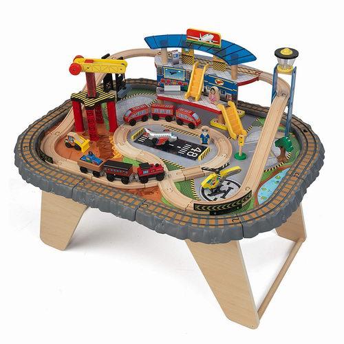 KidKraft Transportation 儿童立体火车轨道游戏桌玩具套装 129.99加元包邮!支持优先配送!