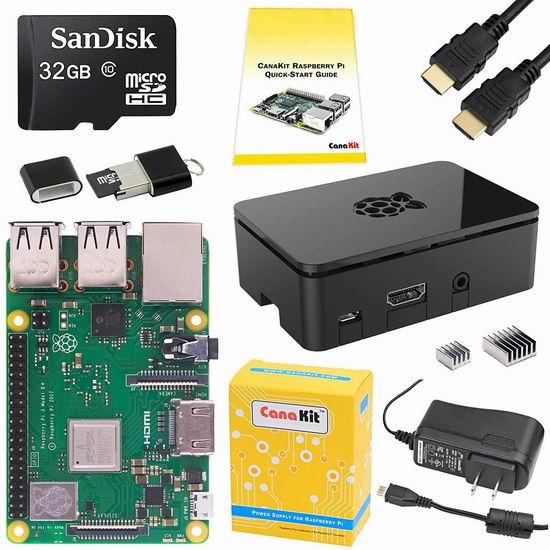 金盒头条:历史新低!CanaKit Raspberry Pi 3 树莓派3 B+主机板 + SD卡 + 电源 入门套件 79.99加元包邮!