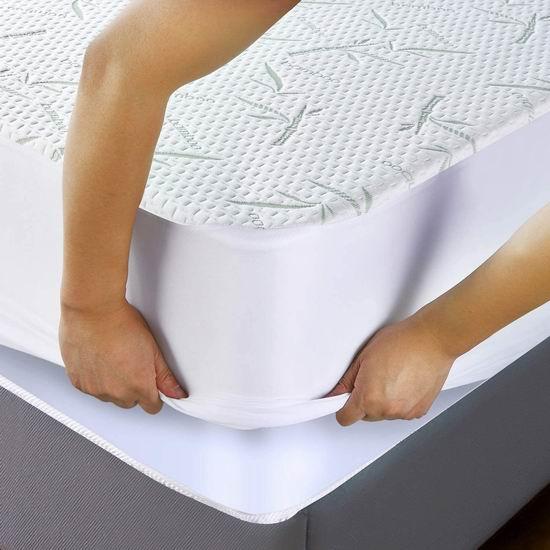 Utopia Bedding 竹纤维 防水防过敏Queen床垫保护套 36.99加元包邮!