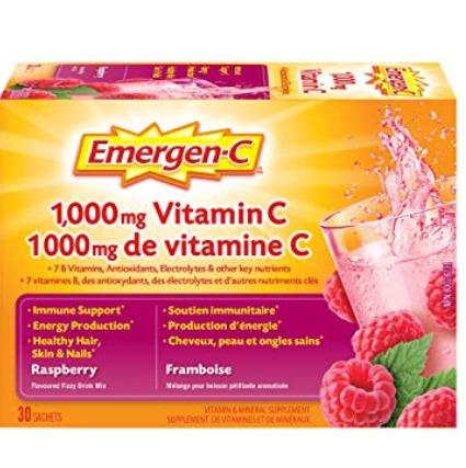 增强抵抗力,预防感冒!Emergen-C 覆盆子味 维他命C 冲剂 10.43加元!