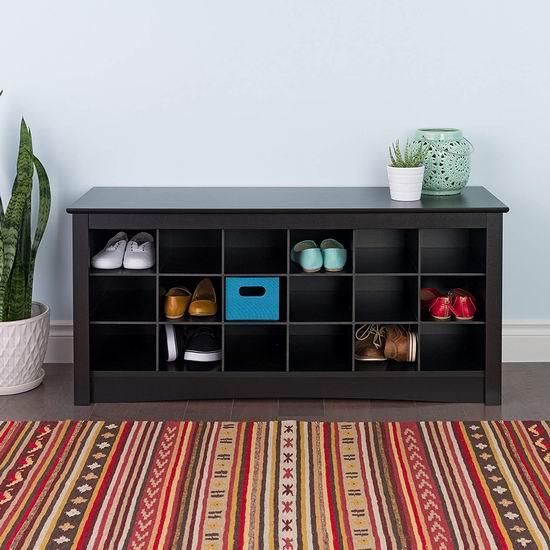 Prepac BSS-4824 48英寸 黑色卧式鞋柜6.1折 126.98加元包邮!
