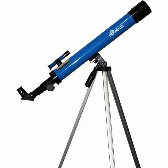 历史新低!iOptron 6004 iExplore 50AZ 折射式天文望远镜6.5折 26.09加元!
