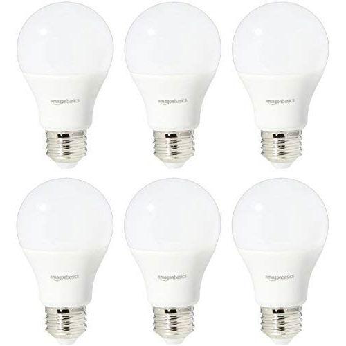 历史新低!AmazonBasics A19 60瓦等效 日光色 LED节能灯6件套6.2折 21.09加元!