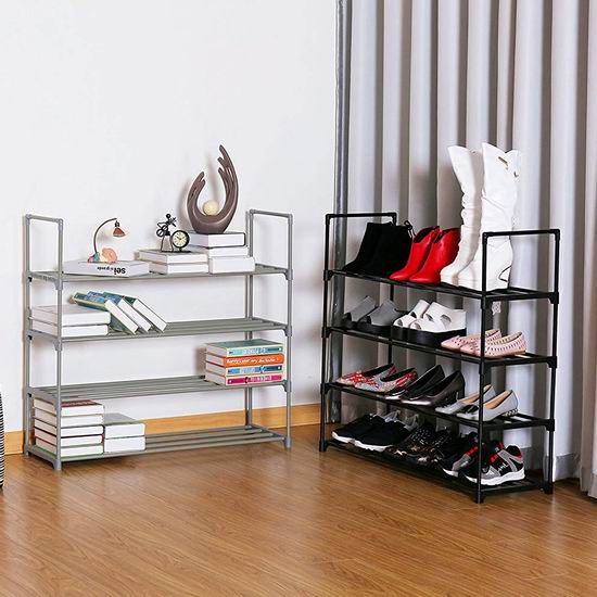 Homebi 20双容量 黑色四层鞋架6.5折 19.99 加元!