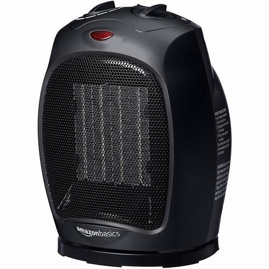 历史新低!AmazonBasics DQ078 1500瓦 一机两用 黑色陶瓷电取暖器/电风扇4.3折 25.86加元!