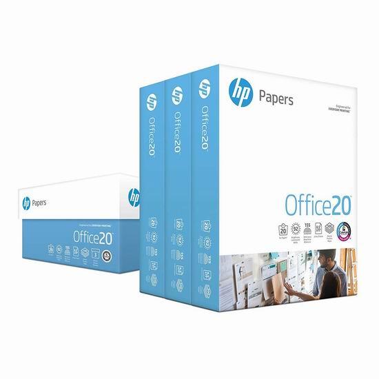 HP 惠普 Office Ultra White 超白打印纸(3 x 500页) 22.49加元!