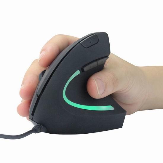 手慢无!AnthroDesk 人体工学 LED垂直鼠标3.3折 9.99加元限量特卖!