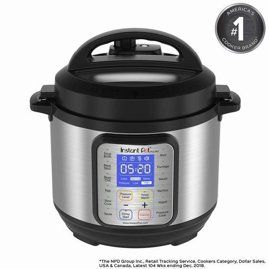 Instant Pot DUO Plus 3夸脱 9合一多功能电压力锅 85.04加元包邮!