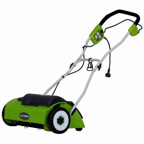 历史新低!GreenWorks 27022 10安培 14英寸电动梳草机5.7折 149加元包邮!春季清除枯草必备!