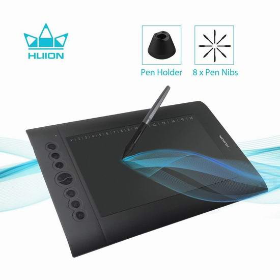 Huion 绘王 H610 Pro 专业级2048级压感 电脑绘图平板 66.49加元包邮!