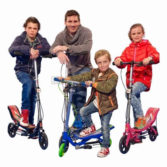 手慢无!SpaceScooter X580 红色款 成人儿童 太空漫步 滑板车3.6折 70.1-79.6加元包邮!美亚同款高分好评!