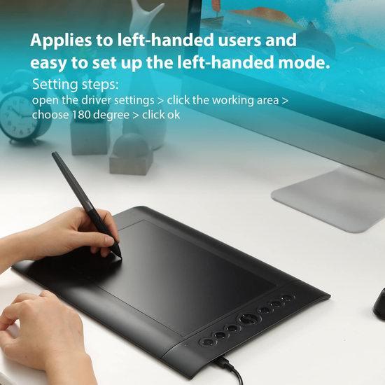 Huion 绘王 H610 Pro 专业级2048级压感 电脑绘图平板 66.49加元限量特卖并包邮!