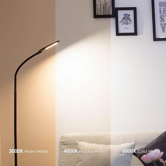 TECKIN 8瓦 LED护眼 时尚落地灯 52.99加元包邮!