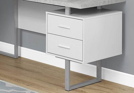 历史新低!Monarch Specialties 70英寸 时尚L型电脑桌/书桌 379.97加元包邮!2色可选!