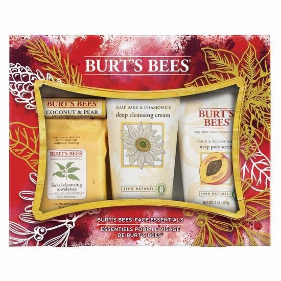 历史新低!Burt's Bees 小蜜蜂 天然面部唇部护理4件套超值装 13.79加元!