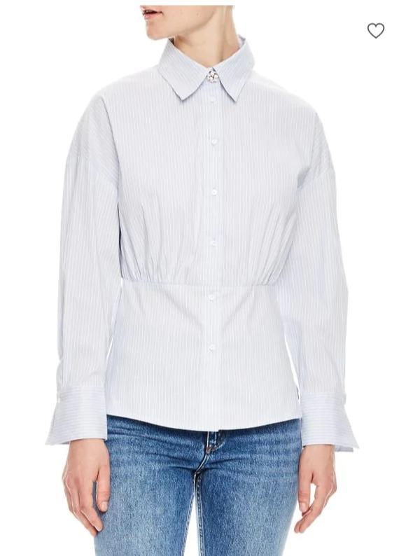 Sandro Solo经典长袖系扣衬衫 69.6加元,原价 290加元