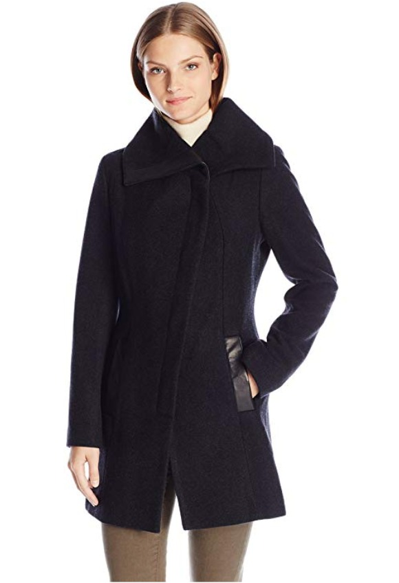 Soia & Kyo Jana 羊毛混纺修身大衣 106.59加元(L码),原价 506.99加元,包邮