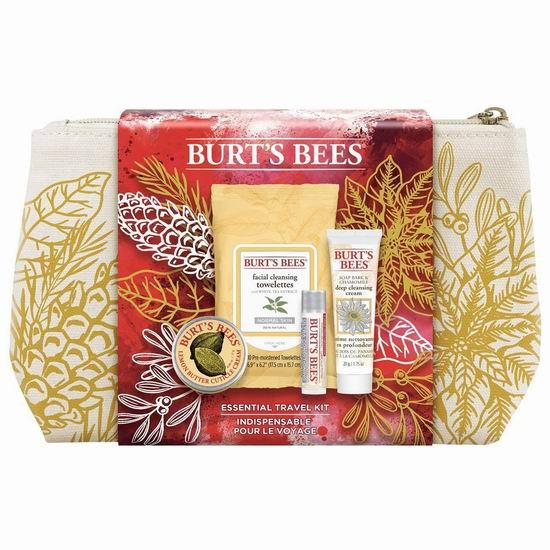 历史新低!Burt's Bees 小蜜蜂 天然唇部脸部护理4件套超值装5.7折 8.54加元包邮!
